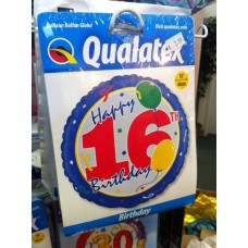 BALLOON 16TH HAPPY BIRTHDAY MYLAR