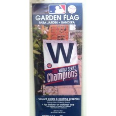 CHICAGO CUBS W GARDEN FLAG 11 X 15 WORLD SERIES CHAMPIONS
