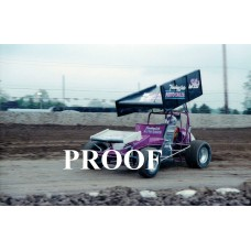 34 A KEVIN ATKINS SPRINT CAR PHOTO 5-20-89 8 X 10